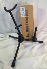Saxophone Stand Special! Alto or Tenor,  flute or clarinet peg Free US shipping