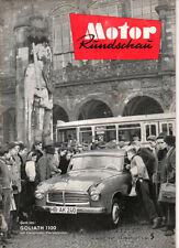 Zeitschrift Motor Rundschau  Heft 5 / 57  MB  L 319  D, BMW R 69. Goliath 1100