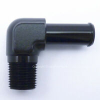 1/8 NPT to 7mm 8mm (5/16) BLACK 90 DEGREE ELBOW PUSH ON BARB TAIL Hose Adapter