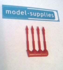Dinky 100 Fab 1 set of 4 Reproduction Red Plastic Harpoons