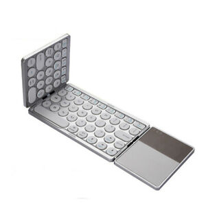 Wireless Keyboard with touchpad Three-fold Portable Rechargeable Bluetooth