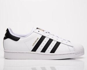 adidas Originals Superstar Men's White Black Athletic Casual Lifestyle Sneakers