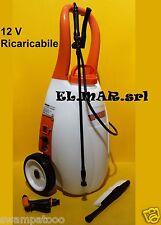 Pompa trolley 25 lt elettrica 12 V a batteria irrorazione disinfestazione ruote