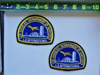 2=Los Angeles Department of Airports LAX Airplane International Patches Set Used