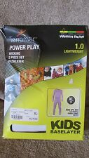 Terramar Power Play Kids 2 Piece Thermal Set - XL (18) - 522 Purple    (G 48)