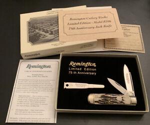 1990 Remington UMC 75th Anniversary R106 STAG JACK KNIFE Mint in Box