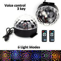 LED Magic Ball Stage Light Club RGB Rotating Disco Xmas Party DJ Decor Remote