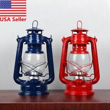 Vintage Style Lantern Kerosene Oil Paraffin Hurricane Lamp Light Adjustable Wick