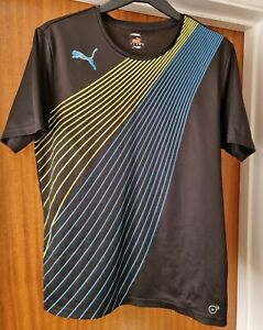 Mens size M Puma activewear top black Evo speed Dry cell