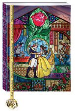Disney Beauty and the Beast Journal with Rose Charm Bookmark - FREE SHIPPING