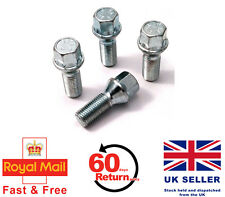 Audi A4 S4 RS4 aftermarket alloy wheel bolts. M14 x 1.5, Taper set of 4
