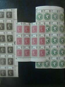 GB  commemorative blocks QEII 1970 Philympia Stamp Exhibition. cv£0.75p set.
