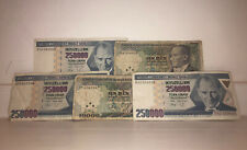 More details for turkish lira banknotes: 2x 10000, 3x 250000