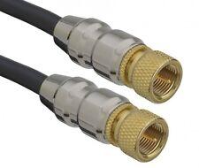 aricona Sat Koax Kabel 3m Digital TV F-Stecker Gold Antennenkabel ULTRA HD 4K