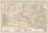 1908 SOUTH DAKOTA Railroads Map