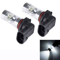 New 2x H10 6500K 60W LED 12-SMD Projector Fog Driving DRL Light Bulbs HID White