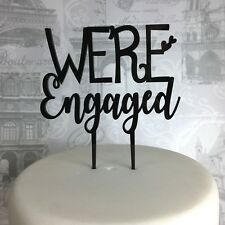 We're engaged wedding cake topper acrylic engagement bride to be glitter