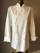 Cayson Designs San Francisco Chef Shirt Size 12 Double-Breasted Solid White