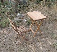 anciennes table et chaise pliantes Vintage format enfant