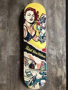 New PBR Limited Edition 1/50 Pabst Blue Ribbon PBR Skateboard Deck Mancave Rare