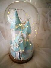 Light Lamp Castle Paper Craft Fairytale Cloche Table Decor