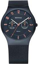 Bering Time - Titanium Case - Unisex Blue Milanese Mesh Multifunction Watch