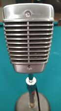 Vare Rare 1950's SHURE 51S Sonodyne Dynamic Microphone with Vintage Atlas Stand