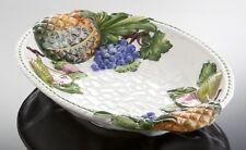 Bassano italienische Keramik Obstschale Früchte Ananas Trauben Reliefen 39x27