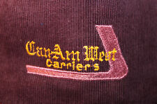 Can-Am West Carriers Canada Corduroy Hat Cap Snapback Truck Transport Freight