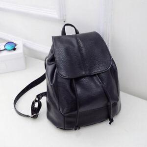 Women's Fashion Leather Rucksack Backpack Travel Shoulder Bag College School Bag