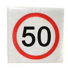 50. Birthday Paper Napkins Napkins 12 Pieces, Happy Birthday, New