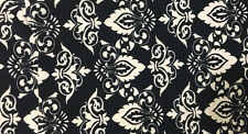 LuLaRoe Leggings ~ OS ~ BLACK CREAM DAMASK FLEUR DE LIS ~ *UNICORN ~ HTF ~ RARE*