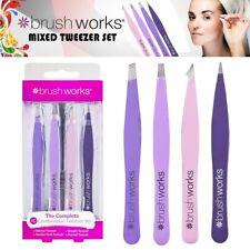 Brushworks HD Combination Tweezer Set, Mixed