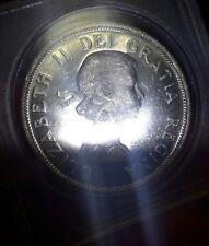 1962 Canada Silver Dollar - Lustrous - Free U S Shipping