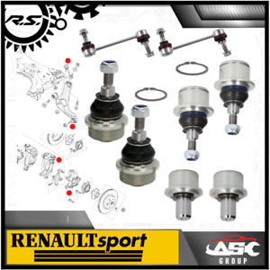 Control Arm & Hub Ball Joint Set + Link Rods - L/R - fits Renault Clio Megane RS