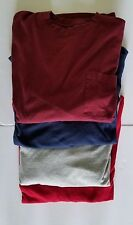 (4) Long Sleeve T Shirts Gray, Navy, Maroon, Red Size 3XL-Lot of 4