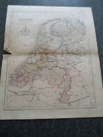 Antique Map ~ HOLLAND ~ From The College Atlas For Schools+Families 1860
