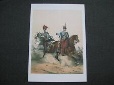 affiche cartonnée : hussards à cheval second empire