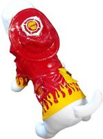 Cha Cha Couture Fire Chief Dog Raincoat Slicker Multiple Sizes Dog Clothes Pet