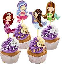 24 Comestibles Azúcar Glaseado Sea Shells playa temática Cupcake Toppers Decoraciones De Pastel