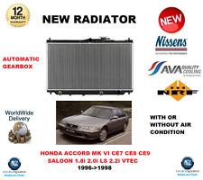FOR HONDA ACCORD MK VI SALOON 1.8i 2.0i LS 2.2i VTEC AUTO 1993-1996 NEW RADIATOR