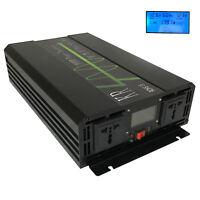 Pure Sine Wave Power Inverter 2000W 12V/24V/48V to 120V/220V for Car/Home Solar