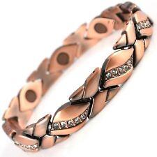 Copper Magnetic Bracelet Pain Relief Carpal Tunnel Arthritis Ladies Womens