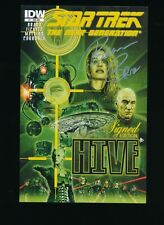 STAR TREK NEXT GENERATION HIVE 1 VARIANT 1 IN 25 SIGNED EDITION IDW NM/M