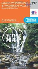 OS Explorer Map Active (297) Lower Wharfedale and Washburn Valley (OS Explorer A