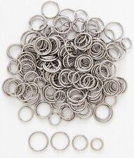 """1 Pair Steel Seamless Nose Ring, Lip, Ear, Nipple, Hoop Piercing 16g 1/4"""" 6MM"""