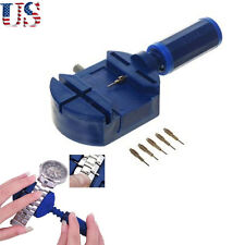 Watch Pins Remover Band Adjuster&5 Link Repair Set Tools Strap Bracelet Wrist US