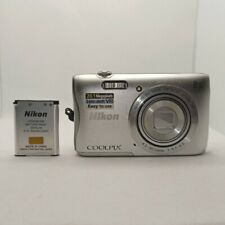 Nikon Coolpix S3700 Digital Camera 20.1MP Wi-Fi w/ Battery - Silver *Working*