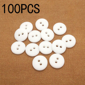 100Pcs Resin Round Buttons for Apparel Sewing Scrapbook DIY Crafts Mixed Size