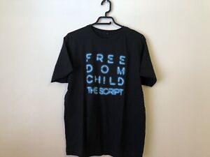 The Script Freedom Child Blue Concert Tour T-Shirt Men's Large